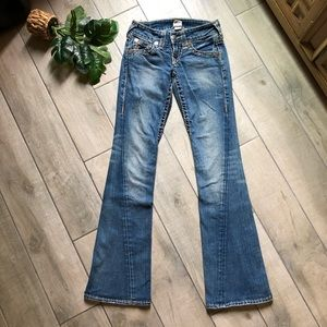 True religion Joey super t flared jeans.